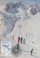 D24641 CARTE MAXIMUM CARD TRIPLE 1986 GREECE - SKIING CP ORIGINAL - Skiing