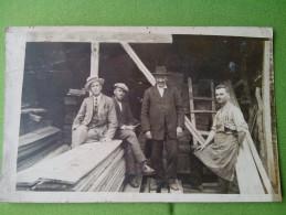 RARE VINTAGE OLD POSTCARD Lithograph BULGARIA Picture Carpenter Warehouse - Photographs