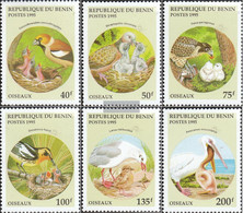 Benin 685-690 (complete Issue) Unmounted Mint / Never Hinged 1995 Birds - Benin - Dahomey (1960-...)