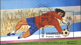 Cambodia Block142 (complete Issue) Fine Used / Cancelled 1985 Football-WM 1986, Mexico - Cambodja