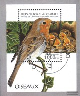 Guinea Block494 (complete Issue) Fine Used / Cancelled 1995 Songbirds - Guinea (1958-...)