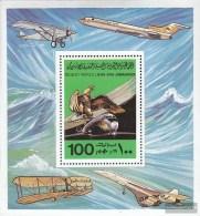 Libya Block36a (complete.issue.) Unmounted Mint / Never Hinged 1978 1. Motorflug The Gebrüthe Wright - Libya