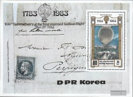 North-Korea Block135 (complete Issue) Fine Used / Cancelled 1982 200 Years Aviation - Korea (Nord-)