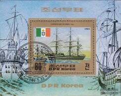 North-Korea Block144 (complete Issue) Fine Used / Cancelled 1983 Vessels - Korea, North