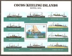 Cocos Keeling Island 1984 SG 114 Barrel Mail M.s Unmounted Mint - Islas Cocos (Keeling)