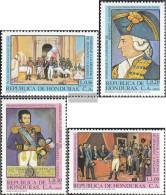 Honduras 973-976 (complete Issue) Unmounted Mint / Never Hinged 1981 Bernardo O'Higgins - Honduras