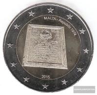 Malta 2015 Stgl./unzirkuliert Reprint: 435.000 Stgl./unzirkuliert 2015 2 Euro Proclamation The Republic - Malta