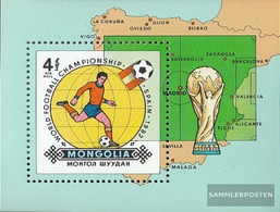 Mongolia Mi.-number.: Block85 (complete Issue) Unmounted Mint / Never Hinged 1982 Football-WM 1982 In Spain - Mongolia