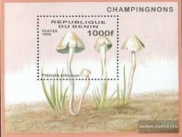 Benin Block22 (complete.issue.) Unmounted Mint / Never Hinged  1996 Mushrooms