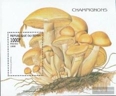 Benin Block37 (complete.issue.) Unmounted Mint / Never Hinged  1998 Mushrooms