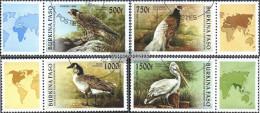 Burkina Faso 1406-1409 With Zierfeld (complete Issue) Unmounted Mint / Never Hinged 1996 Birds - Burkina Faso (1984-...)