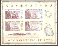 Cocos Keeling Island 1990 SG 227 Navigators Miniature Sheet Unmounted Mint - Cocos (Keeling) Islands