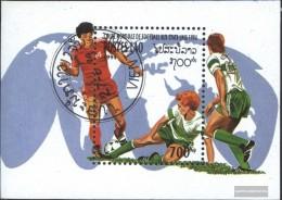 Laos Block149 (complete Issue) Fine Used / Cancelled 1994 Football-WM '94, U.S. - Laos