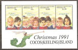 Cocos Keeling Island 1991 SG 251 Christmas Miniature Sheet Unmounted Mint - Cocos (Keeling) Islands