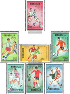 Mongolia Mi.-number.: 1764-1770 (complete Issue) Unmounted Mint / Never Hinged 1986 Football-WM 1986 In Mexico - Mongolia