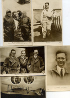 7732 - 5 Cpa Aviateurs Pionniers : Doret, Nungesser Et Coli (deux Cpa, Une Avec Avion Levasseur), Chamberlin - Aviateurs