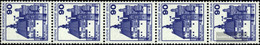 Berlin (West) 588R Five Strips Unmounted Mint / Never Hinged 1978 Fortresses And Castles - Unused Stamps