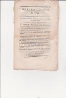 DECRET IMPERIAL CONCERNANT LA RESIDENCE DES FORCAT LIBERES -19 VENTOSE AN XIII - Decrees & Laws