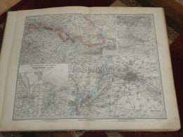 Deutsche Reich Germany Deutschland Berlin Wilhelmshaven Kiel Karte Map 47x39 Cm ~1882 - Geographical Maps