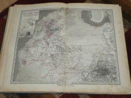 England United Kingdom Scotland Ireland London Karte Map 47x39 Cm ~1882 - Geographical Maps