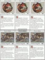 UN - New York 623-624 Sechserblocks (complete Issue) Unmounted Mint / Never Hinged 1991 Human Rights - New York – UN Headquarters