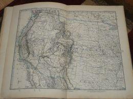 North America United States USA Oregon Nevada Arizona New Mexico Texas Dakota Minesota Iowa Missouri Map 47x39 Cm ~1882 - Geographical Maps