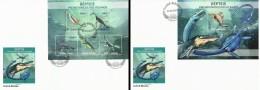 Guinea Bissau 2013, Animals, Water Dinosaurs, 5val In BF +BF In 2FDC - Briefmarken