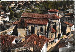 En Avion Au Dessus De Roquefort (Landes) - L'Eglise - Vue Générale - Edition Lapie - Carte Colorisée - Roquefort