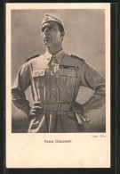 CPA Acteur De Cinéma Fosco Giacchetti In Uniform Posierend - Actores