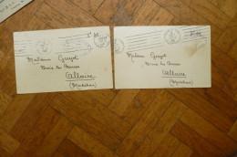 2 CPFM Arcueil 7 Et 10/07/1940 21 Légion GRM Gendarmerie  Bataillon De Chars - Marcophilie (Lettres)
