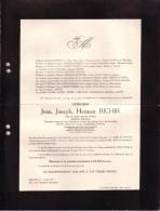 IXELLES UCCLE Jean RICHIR Veuf WEBER Artiste Peintre Directeur Beaux-Arts Bruxelles 1866-1942 Enterré Schaerbeek - Avvisi Di Necrologio
