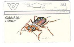 Austria - Österreich - Glückskäfer Februar - Käfer - Bug  - 600A - ANK 135 - Oesterreich