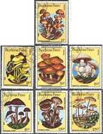 Burkina Faso 1054-1060 (complete.issue.) Unmounted Mint / Never Hinged 1985 Mushrooms - Burkina Faso (1984-...)