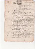 BOURGOIN JALLIEU -1692- LETTRE ADRESSEE AU RECEVEUR DES TAILLES -SUR 4  PAGES - Décrets & Lois