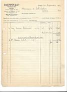 F6 - Facture Daeppen & Cie Mercerie En Gros Vevey 23.09.1927 - Suisse