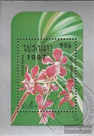 Laos Block118 (complete Issue) Fine Used / Cancelled 1987 Orchids - Laos