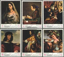 Yemen (UK) 503A-508A (complete Issue) Fine Used / Cancelled 1968 Florentine Art - Yemen