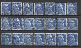 FRANCE - LOT DE 21 TIMBRES OBLITERES - COTE YT : 3.15€ - 1951