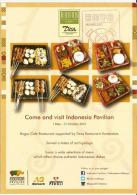"""EXPO UNIVERSELLE MILANO 2015. INDONESIE,dépliant Du Pavillon Indonésien """"Bogor Café"""" Avec Tampon Officiel EXPO - Dépliants Turistici"""