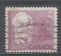 Canada 1963, Scott #410 Sir Casimir Stanislaus Gwowski (1813-98), Engineer, Soldier And Educator, Locomotive (U) - 1952-.... Règne D'Elizabeth II