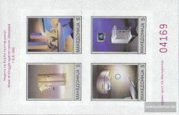 Makedonien Z Miniature Sheet 1B (complete Issue) Zwangszuschlagsmarken Unmounted Mint / Never Hinged 1992 Red Cross - Macedonia