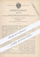 Original Patent - G. Lasarzewski In Berlin , 1884 , Stempel - Apparat Für Tapeten , Papier , Walze , Walzen , Stempeln ! - Historische Dokumente