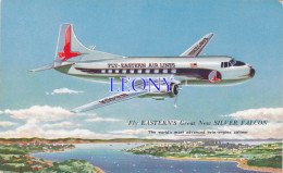 """CPSM 9X14  """" AVION -  FLY EASTERNS Great New SILVER FALCON """" - 1946-....: Moderne"""
