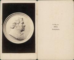 Schubert, Photographie D'un Médaille Vintage CDV Albumen Carte De Visite  CDV, Tirage Albuminé, 6 X - Photographs