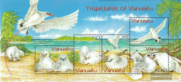 Vanuatu Block50 (complete.issue.) Unmounted Mint / Never Hinged 2004 Rotschwanz Tropikvogel - Vanuatu (1980-...)