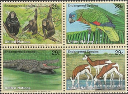 UN - New York 663-666 Block Of Four (complete Issue) Unmounted Mint / Never Hinged 1994 Affected Animals - New York – UN Headquarters