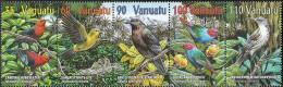 Vanuatu 1129-1133 Five Strips (complete.issue.) Unmounted Mint / Never Hinged 2001 Birds - Vanuatu (1980-...)