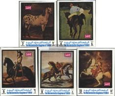 Yemen (UK) 1007B-1011B (complete Issue) Unmounted Mint / Never Hinged 1970 Horse Painting - Jemen