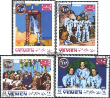 Yemen (UK) 781A-784A (complete Issue) Fine Used / Cancelled 1969 First Manned Moon Landing - Yemen