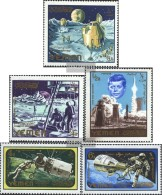 Yemen (UK) 191A-195A (complete Issue) Fine Used / Cancelled 1965 Study Of Outer Space - Yemen